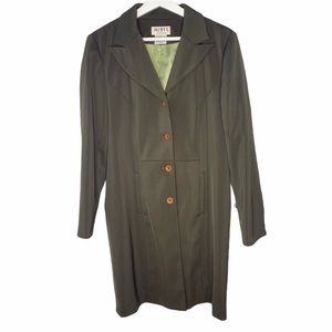 Mixit Dark Army Green Trench Coat SZ 8